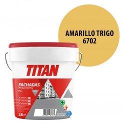 Pintura Plástica Titán Fachadas F4 Amarillo Trigo 6702 Mate