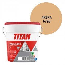 Pintura Plástica Titán Fachadas F4 Arena 6726 Mate