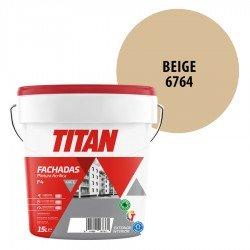 Pintura Plástica Titán Fachadas F4 Beige 6764 Mate