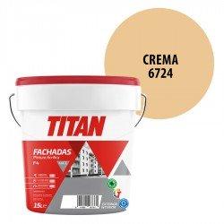 Pintura Plástica Titán Fachadas F4 Crema 6724 Mate