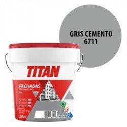 Pintura Plástica Titán Fachadas F4 Gris Cemento 6711 Mate