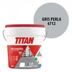 Pintura Plástica Titán Fachadas F4 Gris Perla 6712 Mate
