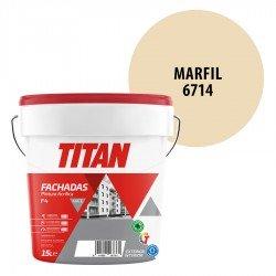 Pintura Plástica Titán Fachadas F4 Marfil 6714 Mate