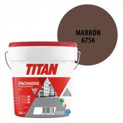 Pintura Plástica Titán Fachadas F4 Marrón 6756 Mate