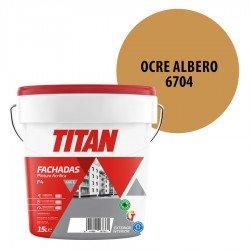 Pintura Plástica Titán Fachadas F4 Ocre Albero 6704 Mate