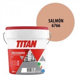 Pintura Plástica Titán Fachadas F4 Salmón 6766 Mate