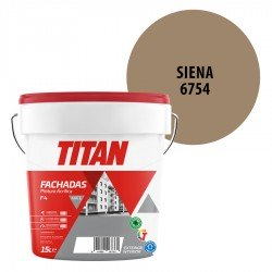 Pintura Plástica Titán Fachadas F4 Siena 6754 Mate