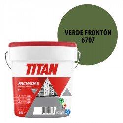 Pintura Plástica Titán Fachadas F4 Verde Frontón 6707 Mate