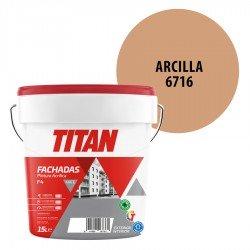 Pintura Plástica Titán Fachadas F4 Arcilla 6716 Mate