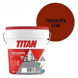 Pintura Plástica Titán Fachadas F4 Terracota 6706 Mate