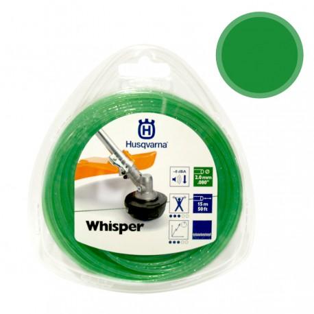 Hilo whisper verde desbrozadora husqvarna 15 m x 2 mm