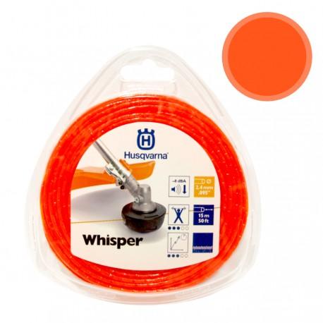 Hilo desbrozadora Husqvarna Whisper naranja 15 m x 2,4 mm