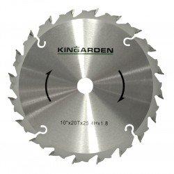Disco Widia desbrozadora 20 dientes Kingarden 254 x 25,4 mm