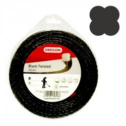 Hilo desbrozadora Oregon Black twisted 3 mm x 51 m