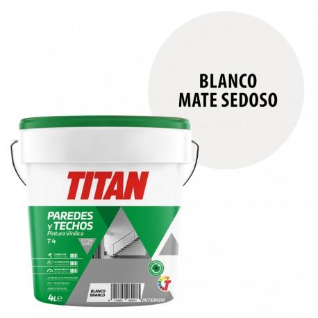 Pintura Titan T4 Interior Blanco Mate 1 - 4 - 15 Litros