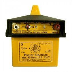 Pastor eléctrico a Batería externa 12 v y Red ION HB Mixto 3 Julios
