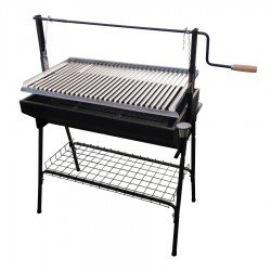 Barbacoa parrilla inox completa regulable 80x50 cm