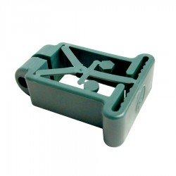 Abrazadera plástica Poste 60x40 mm Verde