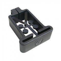 Abrazadera plástica Poste 60x40 mm Negra