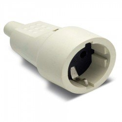 Base movil PVC goma Famatel 2104-B Blanco