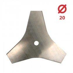 Disco desbrozadora Tres puntas Planas 280x20 - 2mm