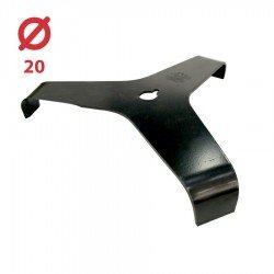 Disco desbrozadora Tres puntas con palas 300x20,0 - 3 mm