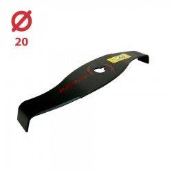 Disco desbrozadora Dos puntas Curvas con Palas Anova 320x20 - 4 mm