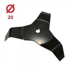 Disco desbrozadora Maleza 3 puntas con palas 300x20 - 4 mm