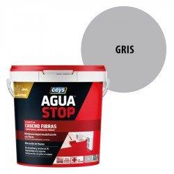 Impermeabilizante AguaStop Ceys Caucho Fibras color Gris