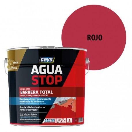 Impermeabilizante AguaStop Ceys Barrera total color Rojo 1 y 4 Kg