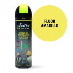 Spray Marcador Topográfico Fluor Amarillo Felton 500 ml