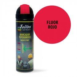 Spray Marcador Topográfico Fluor Rojo Felton 500 ml