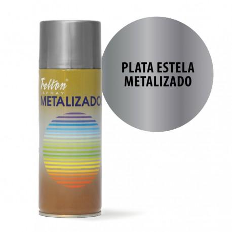Spray Plata estela Metalizado Felton 400 ml Manualidades