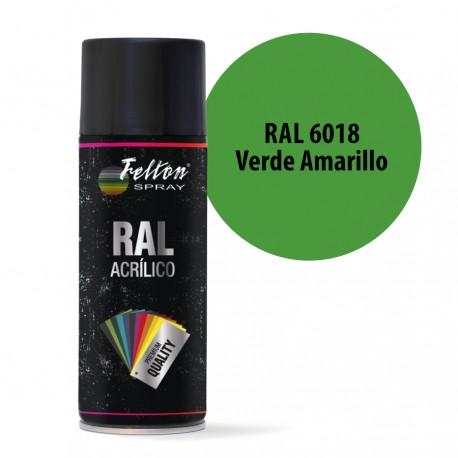 Spray Acrilico Felton RAL 6018 Verde Amarillo 400 ml