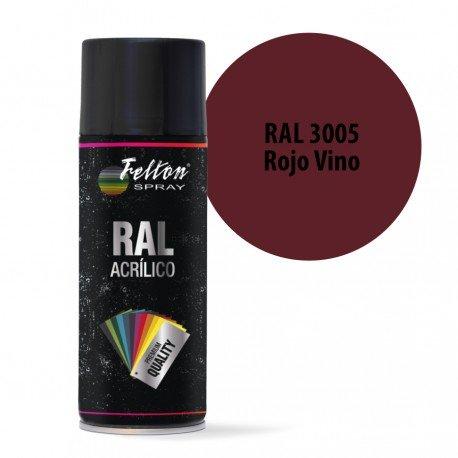 Spray Acrilico Felton RAL 3005 Rojo Vino 400 ml