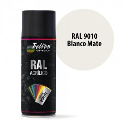 Spray Acrílico Felton RAL 9010 Blanco Mate 400 ml