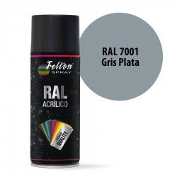 Spray Acrílico Felton RAL 7001 Gris Plata 400 ml