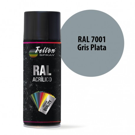 Spray Acrilico Felton RAL 7001 Gris Plata 400 ml