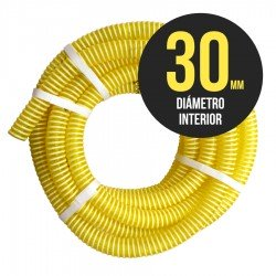 Manguera Florida Transliquidos 30 mm Amarilla Aspiracion- Venta por Metro