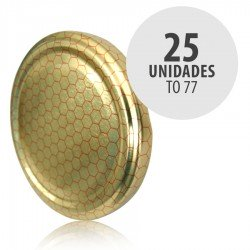 Tapa bote TO 77 Celdillas Pasteurizacion sin boton 25 unidades