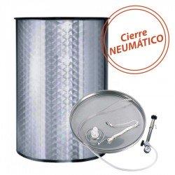 Depósito Acero Inoxidable 400 L Cuba para vino con Cierre Neumático