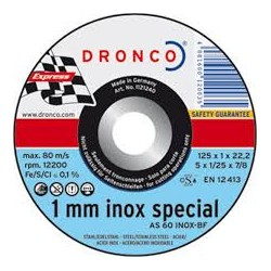 disco corte 115x1,0x22 AS60T inox special dronco