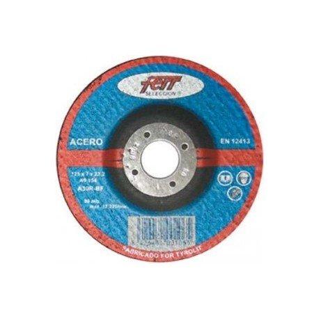 disco acero 42F A30P BF 125X3X22,2 FERR