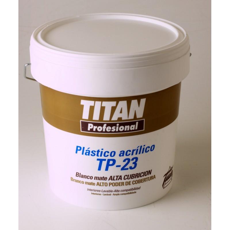 Pintura pl stica blanca titan tp23 4l soutelana - Pintura plastica blanca ...