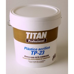 Pintura plástica blanca Titan TP23 15L