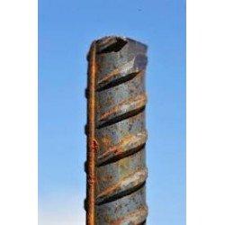 Poste corrugado 16mm 2m de alto