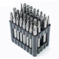 Juego de puntas 75mm bits largos Mercatools 32 piezas