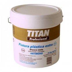 Pintura plástica blanca Titan A1 15L
