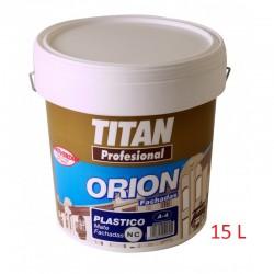 Pintura plástica blanco mate exterior Titan A4 15L