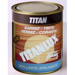Barniz tinte sintético brillante Titan 2 capas 1 LT